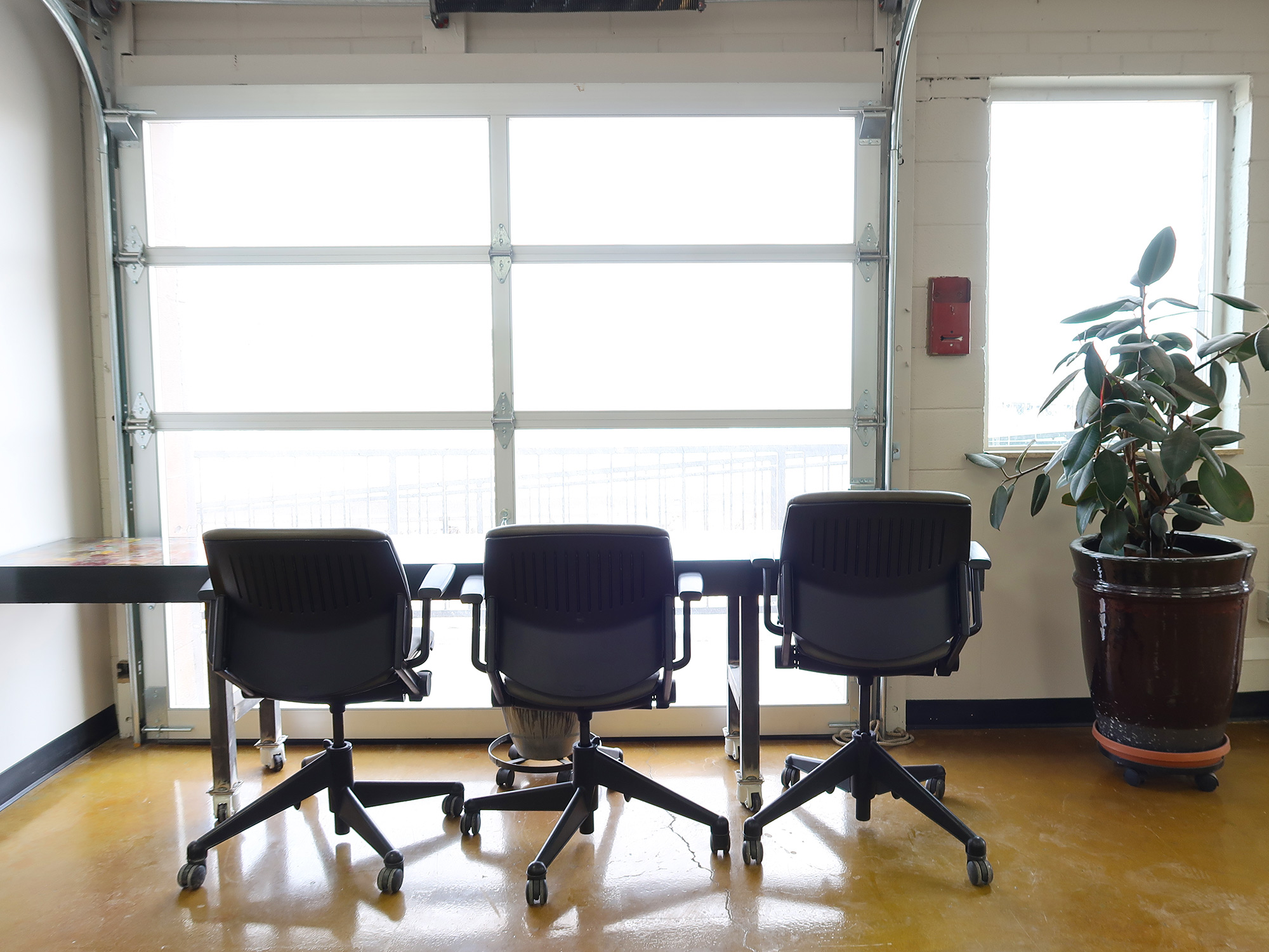 chairs of Mile High Coworking Space in Denver