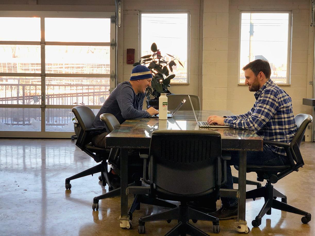 staffs working in coworking space denver