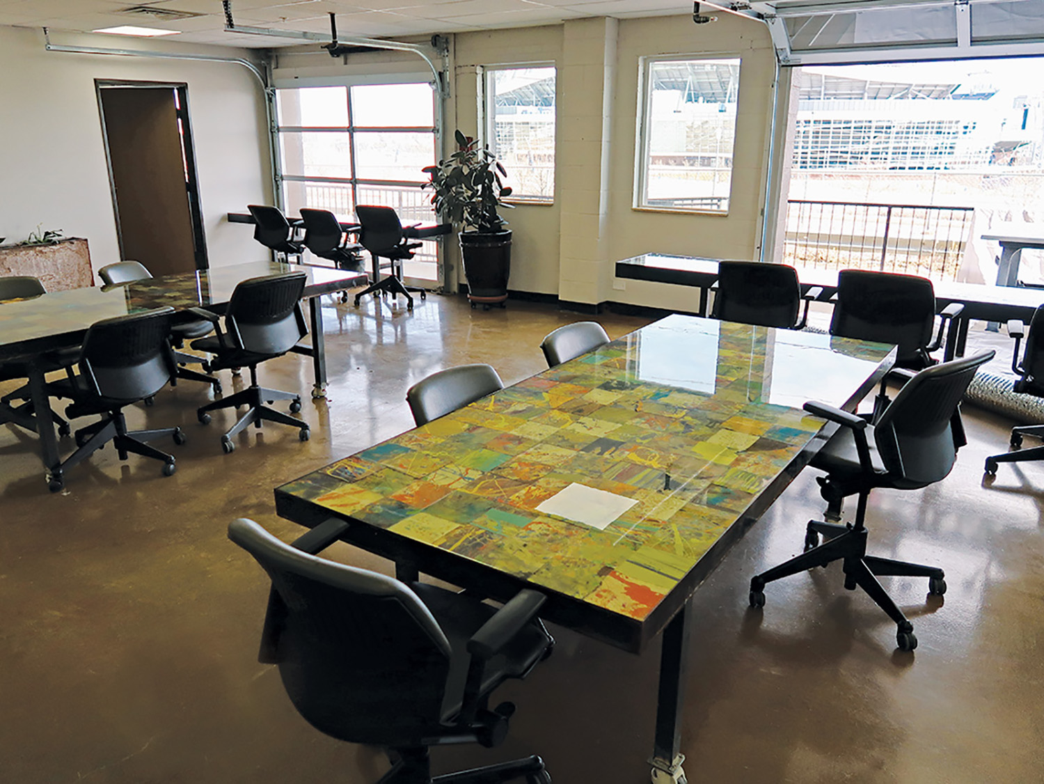 conference room, the main office space